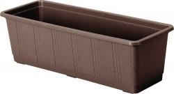Balkonkasten, Pflanzkübel - Kunststoff braun
