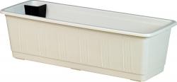 Balkonkasten, Pflanzkübel - Kunststoff weiß