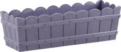 Emsa Country Blumenkasten, Pflanzkübel Holzoptik violet