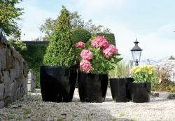Emsa Pflanztopf, Blumentopf schwarz, glänzend
