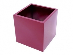 LEICHTSIN Basic 50 cm - Blumentopf, Pflanzkübel rot glänzend
