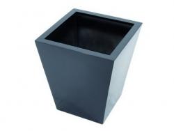 LEICHTSIN Basic 50 cm - Blumentopf, Pflanzkübel schwarz glänzend