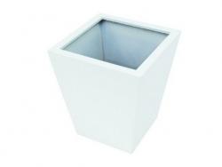 LEICHTSIN Basic 50 cm - Blumentopf, Pflanzkübel weiß glänzend