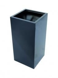 LEICHTSIN Box - Blumentopf, Pflanzkübel schwarz glänzend