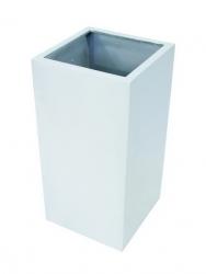 LEICHTSIN Box - Blumentopf, Pflanzkübel silber glänzend