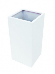LEICHTSIN Box - Blumentopf, Pflanzkübel weiß glänzend