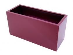 LEICHTSIN Cube Blumenkaste, Pflanzkasten rot gläzend
