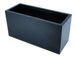 LEICHTSIN Cube Blumenkaste, Pflanzkasten schwarz gläzend