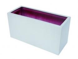 LEICHTSIN Cube Blumenkaste, Pflanzkasten silber gläzend
