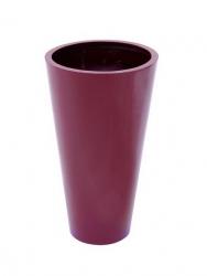 Leichtsin Elegance - Blumentopf, Pflanzkübel rot glänzend