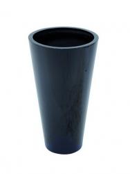 Leichtsin Elegance - Blumentopf, Pflanzkübel schwarz glänzend