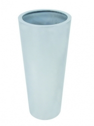Leichtsin Elegance - Blumentopf, Pflanzkübel silber glänzend