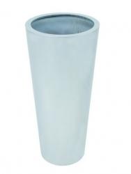 Leichtsin Elegance - Blumentopf, Pflanzkübel weiß glänzend