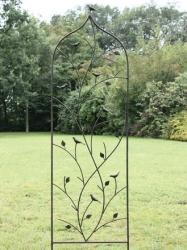Metall Spalier  mit Vogel Motiv