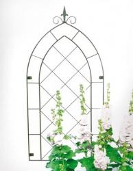 Wandspalier Rankgitter Gotik grün
